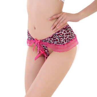 Harga Female leopard thong Bowknot mei red