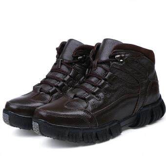 Harga Men's fashion boots High - top boots snow boots - intl