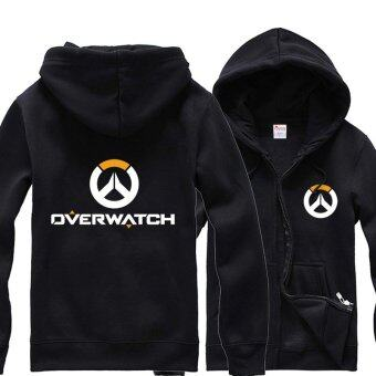 Harga Overwatch Symbol Game Cosplay Coat Men's Women's Jacket Casual Sweatshirt Hoodie Coat Collection(Black) - intl