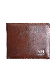Harga Hequ Fashion Mens Wallet Classic Wallet Leather Purse (Brown)
