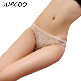 Harga QUECOO 10pcs/lots Lace sexy underwear female temptation hollow low waist cotton comfortable thong women's underwear - intl