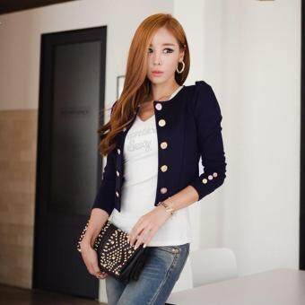 Harga Fashion Women Slim Blazer Coat Short Sexy Casual Suits Jacket Coat Outerwear - intl