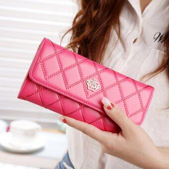 Harga Promotions Lady Women Clutch Long Purse Leather Wallet Card Holder Handbag Bags Rose - intl