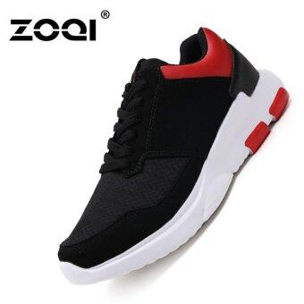 Harga ZOQI Soft Bottom Running Shoes Fashion Sneaker(Red) - intl