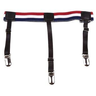 Harga 2pcs Men Punk Shirt Stays Holders Elastic Garter Belt with Non-slip Locking Clamps #3 - intl