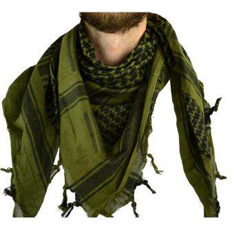 Harga Arab Scarf Military Neck Gaiter Tactical Scarves Muslim Hijab Windproof Arabic Scarves Desert Shemagh Arab Keffiyeh Army Green