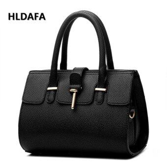 Harga Female Cool Style Atmosphere Fashion Handbags Messenger Shoulder Bag (Black) - intl
