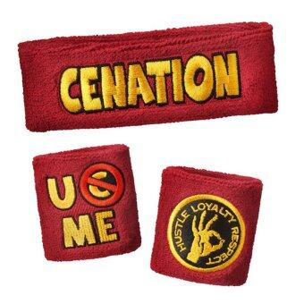 Harga John Cena Swatbands Sports & Outdoors Cotton Wristbands (Red ) - intl