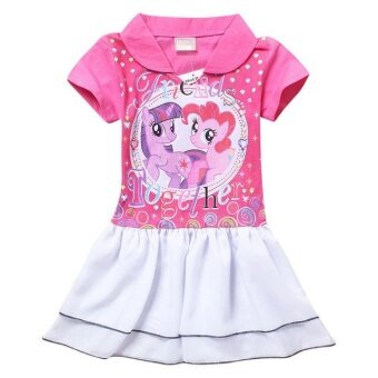 Harga Baby girl Dress kids Casual dress little pony dress 3-8Y summer(pink) - intl