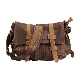 Harga Unisex Canvas Single Shoulder Handbag Man Woman Tote Coffee Chic