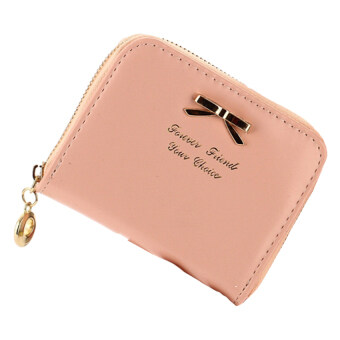 Harga Jo.In Colorful Lady Lovely Purse Clutch Women Wallets Small Bag PU Leather Card Hold Pink
