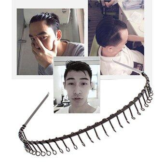 Harga GRACEFULVARA SPORT HAIRBAND MENS SPORTS HEADBAND TOOTHED METAL FOOTBALL HAIR BAND WOMEN MEN-BLACK - intl