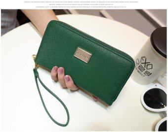 Harga Women Lady Zipper Leather Wallet Clutch Coin Phone Bag Long Purse Card Holder (Green) - intl