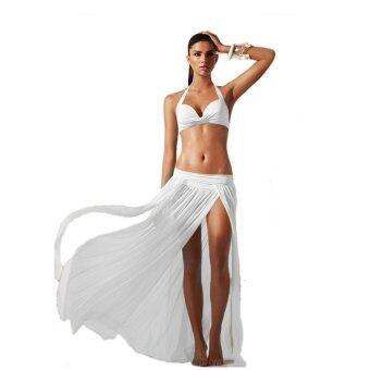 Harga 5 Color Fashion Women Summer Beach Dress Bikini Cover Up Sexy Wrap Bathing Swimwear Sarong Skirt White - intl