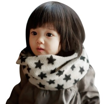 Harga Children Trendy Chic Allover Star Print Scarf