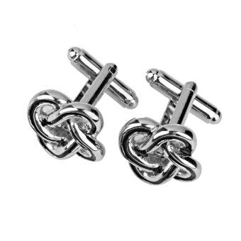 Harga Copper Chinese Knot Cufflinks Cuff Links Jewelry Birthday Favor Gift 1Pair