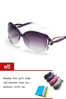 Harga DAKIN แว่นตากันแดด รุ่น T5256- Polarized Purple (Free glasses case glasses cloth)