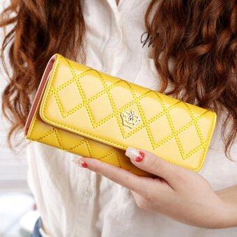 Harga Promotions Lady Women Clutch Long Purse Leather Wallet Card Holder Handbag Bags Yellow - intl