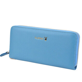 Harga PLAYBOY Lady Wallet Woman Long new leather zipper Leather Wallet Fashion handbag (Blue) - Intl