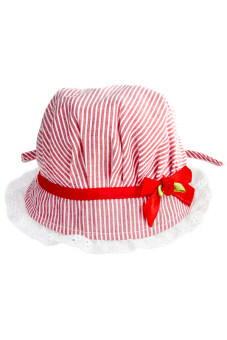 Harga LALANG Baby's Sun Hat Lace (Red)