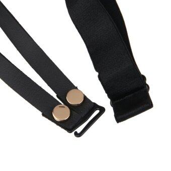 Harga Sexy Handmade Punk Rock Goth Double Row Elastic Leather Garter Belt Leg Ring