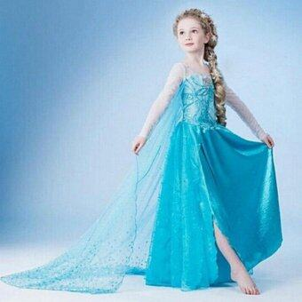 Harga Children Frozen Cartoon Princess Dress Party Dress Cosplay Dress _Style 6 - intl