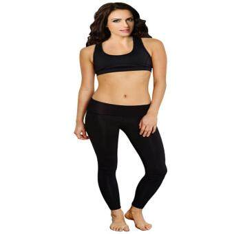Harga LALANG Yoga Pants Long Leg Sport Pants Running Fitness Legging Clothing Gym Sports Wear (Black) - intl