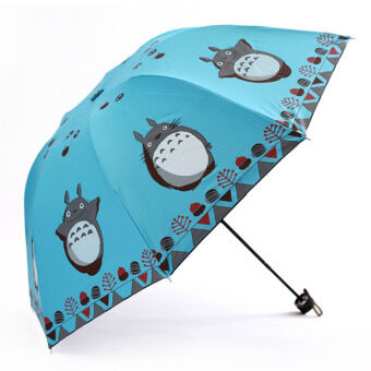Harga FASHION My Neighbor Totoro Creative Design Anti-UV Sun Umbrella Triple Folding UV Protected ultraviolet-proof/sun-proof