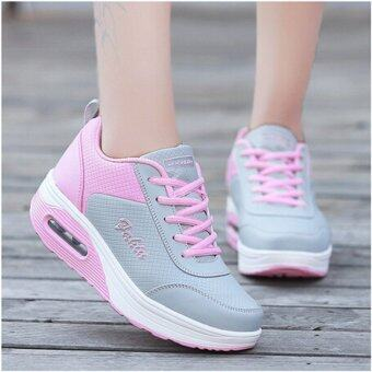 Harga Hanyu Women Sports And Leisure Thickness Increase Slope With Singles Shoes Pink(EU:40)(Intl) - intl