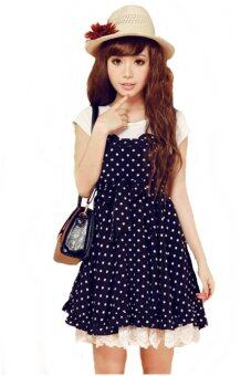 Harga ChannyLin dot dress - น้ำเงิน