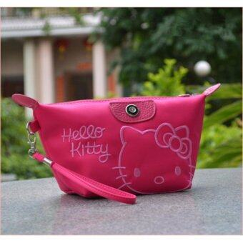 Harga Catwalk Hello Kitty Cosmetic Bag Travel Cosmetic Bag Cartoon Embroidery Handbag Report - intl