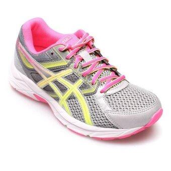 Harga ASICS WOMEN รองเท้าผ้าใบ ผู้หญิง รุ่น GEL CONTEND 3 - T5F9N9607 (STEEL GREY/SAFETY YELLOW/HOT PINK)