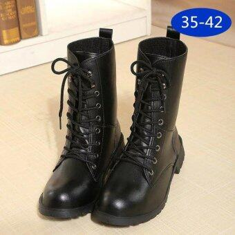 Harga LCFU764 New Fashion England Style Dr. Martin Boots Couple's Martin Shoes Women Marten Dr Designer Motorcycle Boots - intl