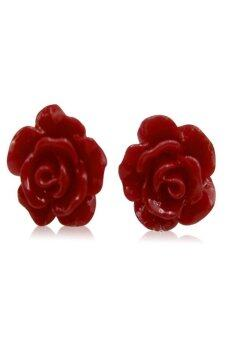 Harga Rose Coral Earrings Red