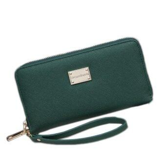 Harga Kuhong Fashion Lady Women Leather Clutch Wallet Long Card Holder Case Purse Handbag - intl