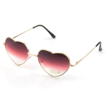 Harga Vococal Retro Vintage Heart Shaped Sunglass (Pink)