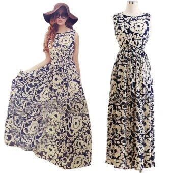 Harga Women Summer Long Dress Evening Party Dress Beach Dresses Chiffon Dress