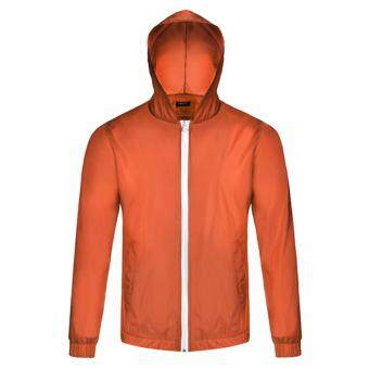 Harga SuperCart Bicycle Cycling Jacket Waterproof Windproof Wind Coat Rain Coat ( Orange ) - intl
