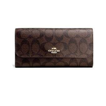 Harga COACH F52681 CHECKBOOK WALLET IN SIGNATURE