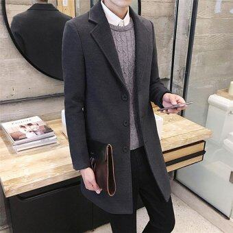 Harga 2017 Men's coat winter warm coat fashion and simple coat 3XL(gray) - intl
