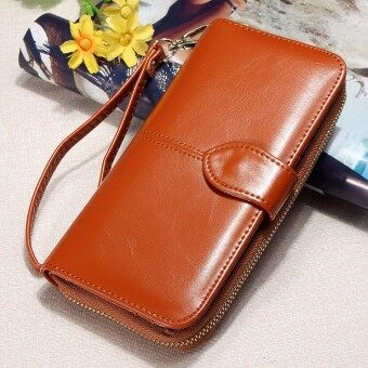 Harga Fashion Lady Women Leather Wallet Long Card Holder Case ClutchPurse Handbag HOT Brown