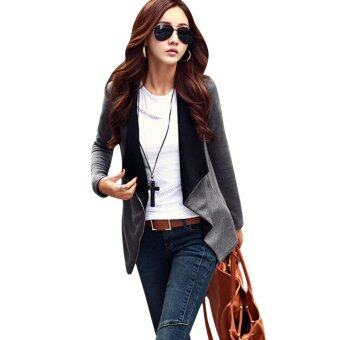 Harga Womens Blazer Fit Outwear Zipper Coat Sweater
