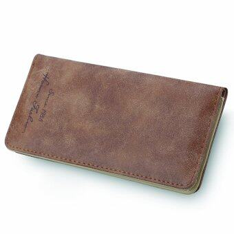 Harga New Brown Retro Women Lady Long PU Leather Wallet Card Case Purse Handbags