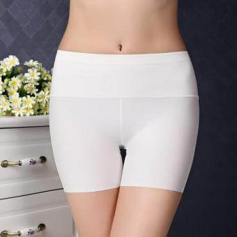 Harga Women Ice Silk Modal Safety Pants Dance Yoga Sport Short legging Underwears Boxers Boyshort (White)