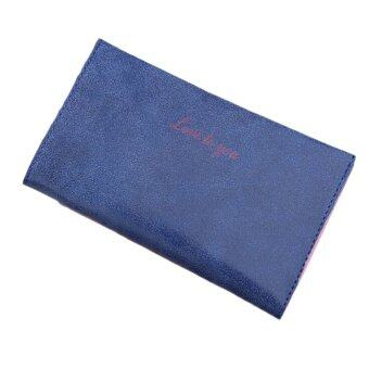 Harga Lady Slim Wallet Matte Leather Vintage Navy - intl