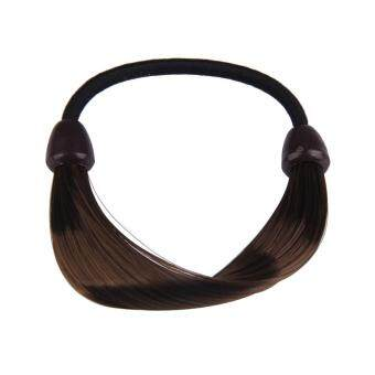 Harga Wig Plaits Elastic Braid Rope Ponytail Hair Hairpiece Band Holder Chic (Intl)