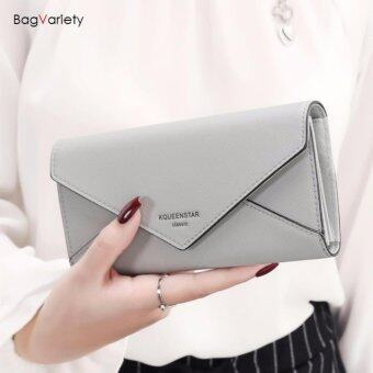 Harga BagVariety กระเป๋าสตางค์ ใบยาว รุ่น Queen Letter สีเทา