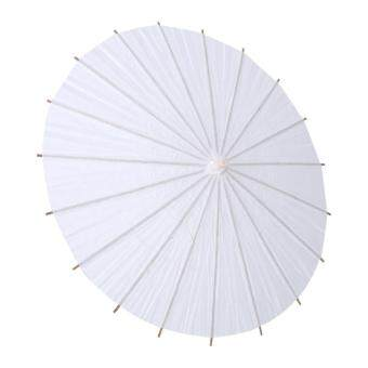 Harga Fashion White Paper Umbrella Wedding Favor Party Decoration Bridal Accessory Radius 20cm - intl