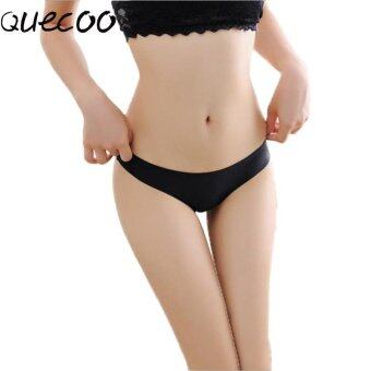 Harga QUECOO 10pcs/lots Cotton file without trace a thin ultra - thin thongs sexy temptation low - waist T - pants women's underwear - intl