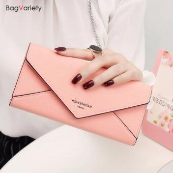 Harga BagVariety กระเป๋าสตางค์ ใบยาว รุ่น Queen Letter สีชมพู